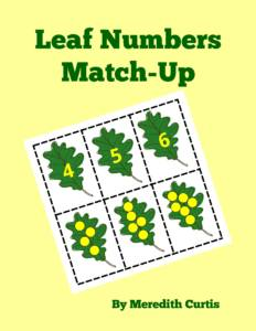 Leaf Numbers Match-Up by Meredith Curtis