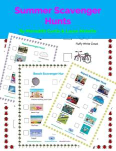 Summer Scavenger Hunts by Meredith Curtis and Laura Nolette