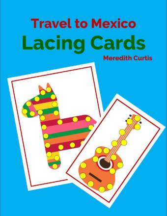 Travel to Mexico Lacing Cards by Meredith Curtis