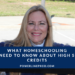 What Homeschooling Moms Need to Know about High School Credits