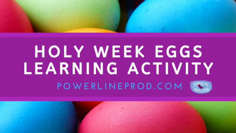Holy Week Eggs Learning Activity