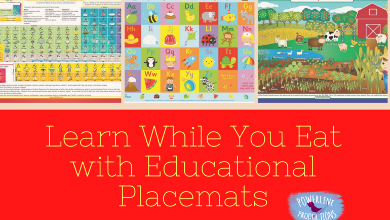 Learn While You Eat with Educational Placemats