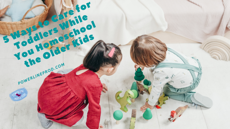 5 Ways to Care for Toddlers While You Homeschool the Older Kids