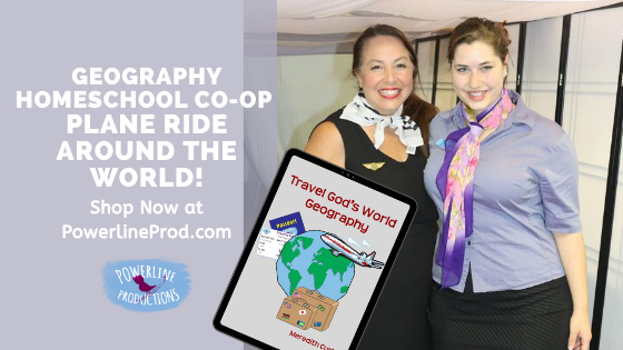 Geography Homeschool Co-op Plane Ride Around the World!