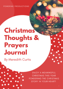Christmas Thoughts & Prayers Journal by Meredith Curtis