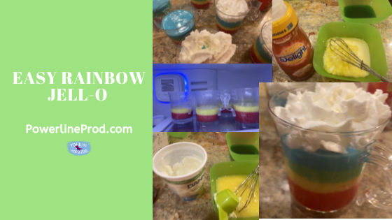 Easy Rainbow Jell-O