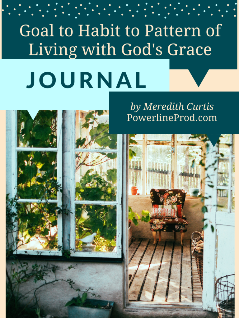 Living with God's Grace - Goal to Habit to Pattern of Living Journal by Meredith Curtis